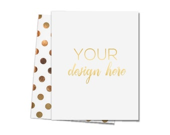 Design Your Own - Gold or Silver Foil Print