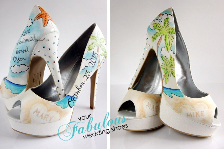 Beach Wedding Shoes Destination Wedding By Buttonzandbloomz