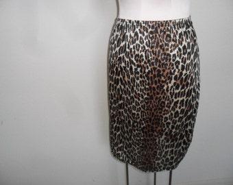 Rockabilly Half Slip Leopard Vanity Fair Size Petite L  Animal Print
