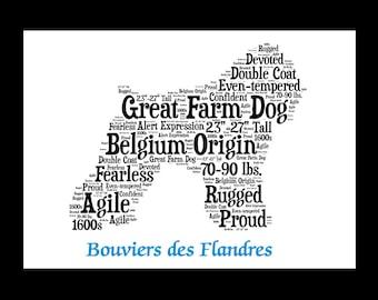 Bouvier des Flandres, Bouvier des Flandres art, Custom, Personalize, Pet Gift, Print, Dog Art, Pet Art, Pet Memorial