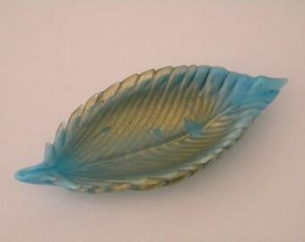 Nature Inspired Mid-Century SALVIATI & Co. Murano Glass RING DISH Venice