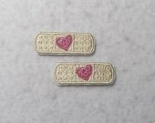 Bandaid (mini - set of two) MADE to ORDER - Choose COLOR - Tutu & Shirt Supplies - Iron on Applique Patch 6942