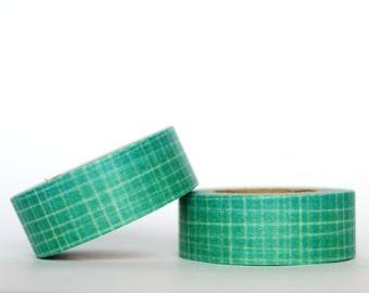 Aqua Grid Texture Washi Tape