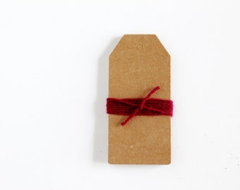 Large Plain Kraft Gift Tags