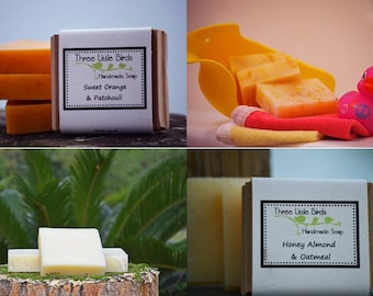 Custom Soap Set, You Pick Any 8 Mini Bars of Handmade, Cold Process Soap, All Natural Shea Butter Formula