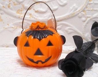 Halloween Hard Plastic Pumpkin