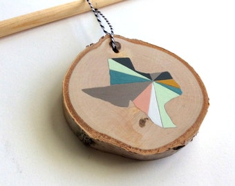 CUSTOM State or Country Silhouette Ornament | | Hand Painted Custom Ornament | | Geometric State Ornament | | Pastels