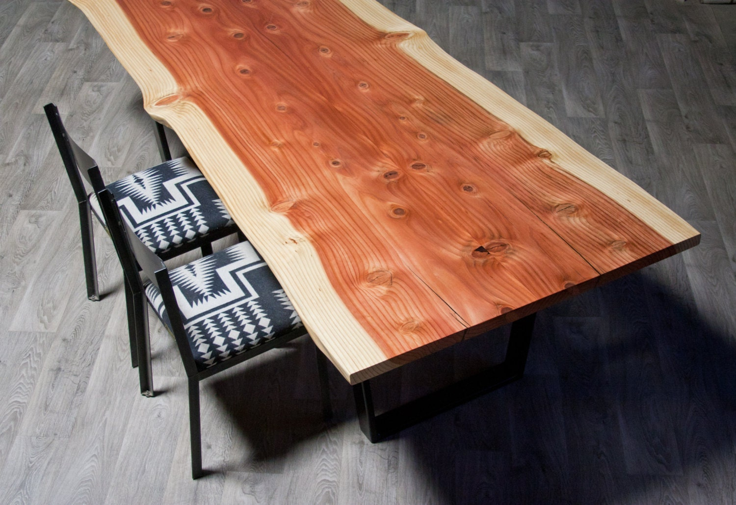 SALE Beautiful Live Edge Wood Sequoia DINING TABLE By ElpisWorks