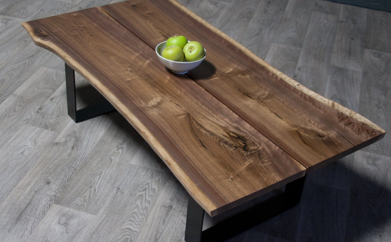 Marvelous photograph of  : Black Walnut Split COFFEE TABLE Natural Live by ElpisWorks with #848047 color and 1500x929 pixels