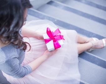 Tulle Skirt, Dusty Pink, Blush Tulle Skirt, Chic and Modern, Tulle skirt, Tutu, reception dress, Bridesmaid dress