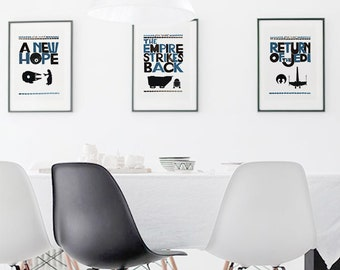 Movie Poster A New Hope - PRINTABLE FILE - Star Wars quote father and son - star wars saga download framed quotes