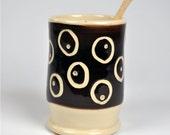 Ceramic Pottery  Spice Jar, Salt Cellar, Pepper Cellar