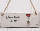 Downstairs Loo Handmade Ceramic Sign
