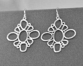 40% OFF, Geometry earrings, Silver earrings. Anniversary gift, Modern earrings,Clip earrings,Christmas gift,Valentines gift,Delicate jewelry