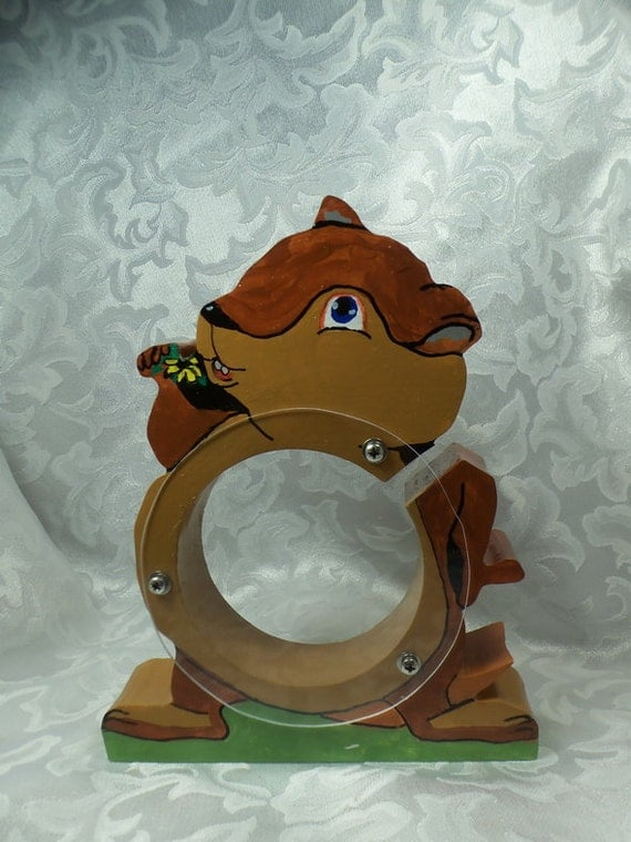 Chipmunk wooden coin bank - Free personalization