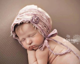 PDF SEWING pattern - Newborn Eden Madison Rustic Fabric bonnet PATTERN #111