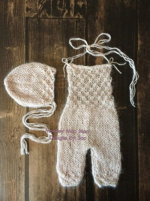 PDF Knitting Pattern newborn photography prop_Tiny flowers