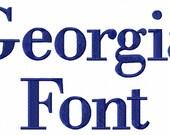 Georgia Machine Embroidery Font Alphabet - 3 Sizes