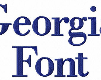 Georgia Machine Embroidery Font Alphabet - 3 Sizes