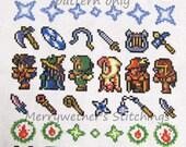 Final Fantasy Band Sampler Cross Stitch PATTERN
