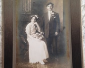 Vintage/ Antique beautiful cabinet photo of a sweet young couple