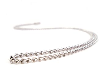 Stainless Steel Chain Necklace Fine Curb Chain