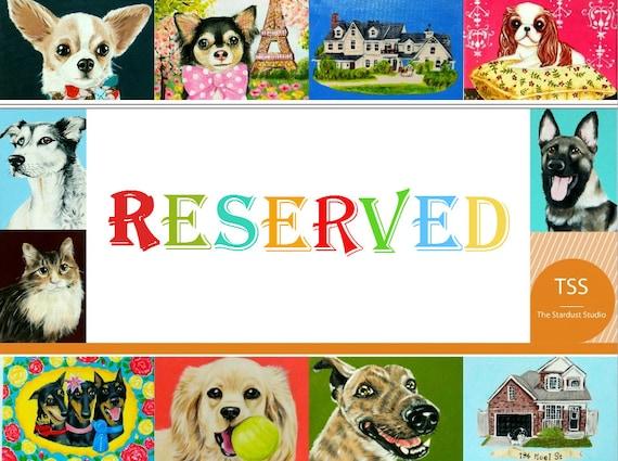 Reserved Listing for  Jennifer