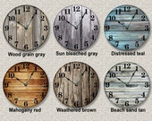 OLD BARN BOARDS printed image wall clock rustic cabin country wall home decor