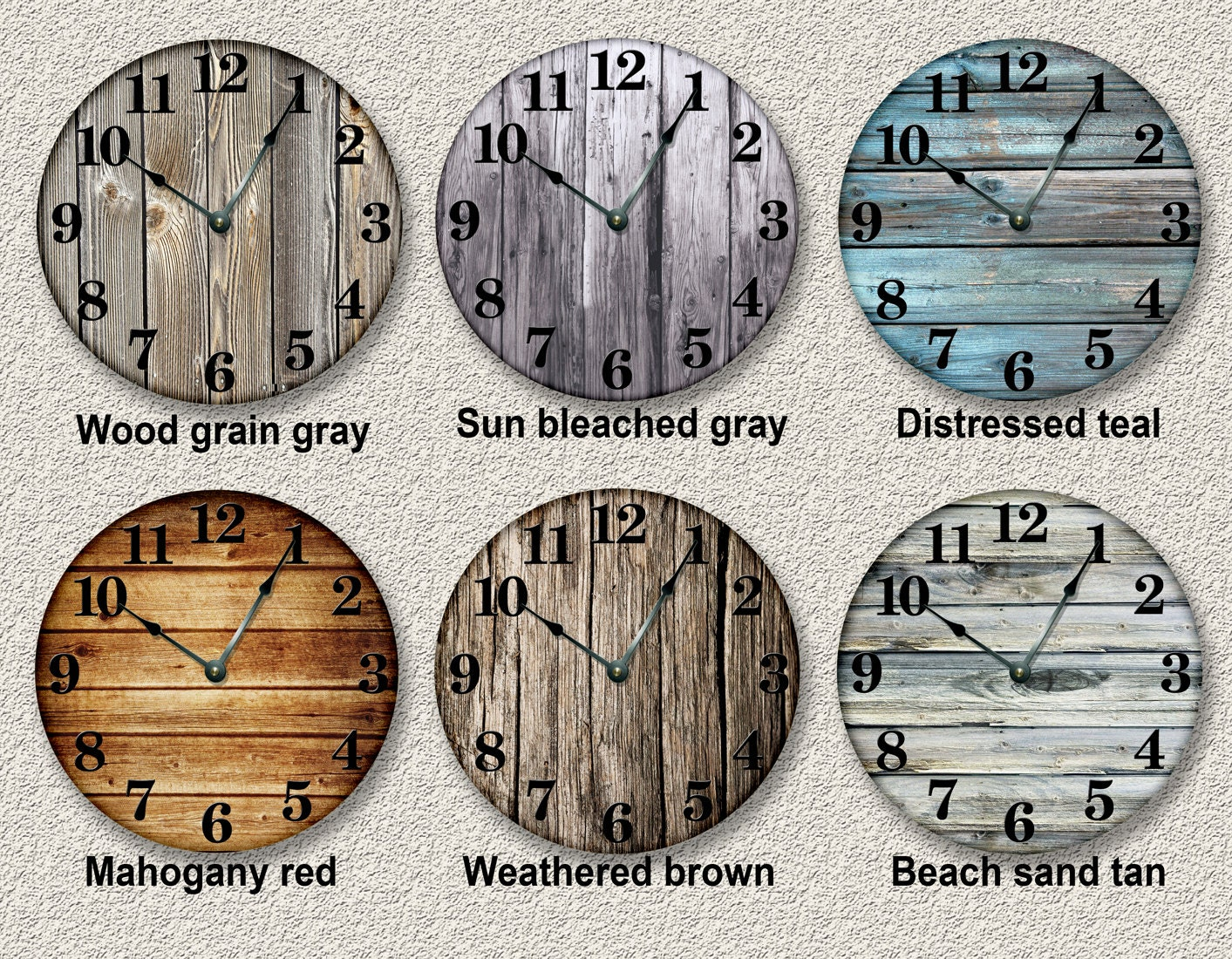Old barn boards printed image wall clock rustic cabin country zoom amipublicfo Image collections