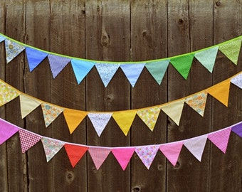Banner Fabric Bunting Fabric Banner Birthday Party Bunting Baby Shower Nursery Art Hanging Wall Art Party Birthday Decoration Party Decor