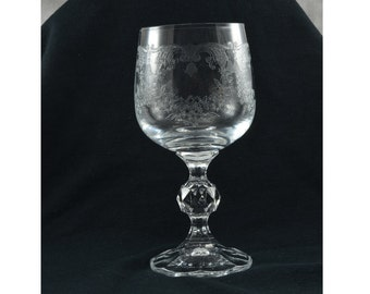 One Bohemian Cascade wine glass/goblet