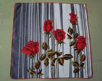 Vtg. Colette Hanky Stemmed Roses