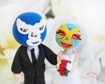 Custom Cake Topper- Wrestler Couple