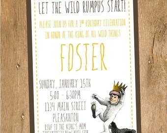 Where the Wild Things Are Invitation- Printable