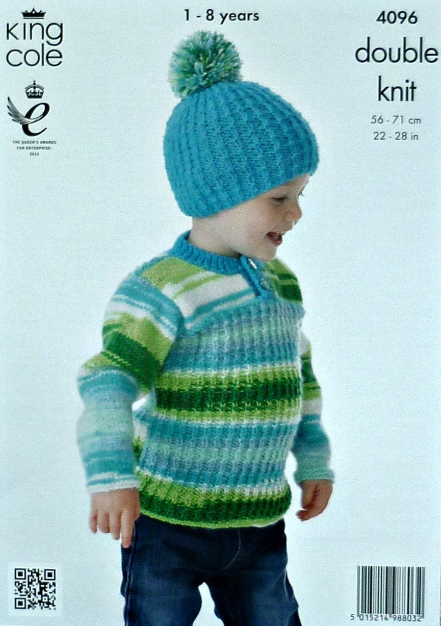 Boys Knitting Pattern K4096 Childrens Long Sleeve Button ...