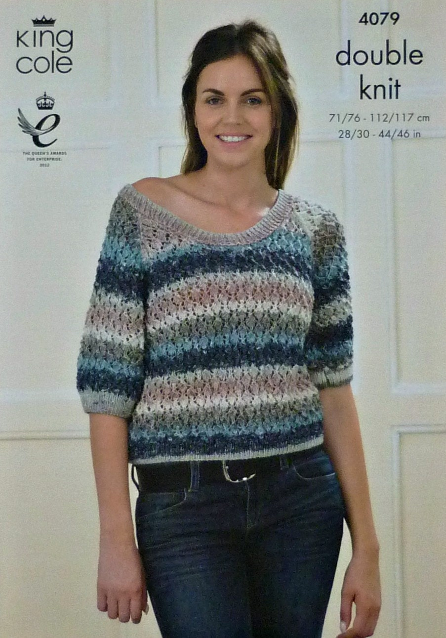 Knitting Pattern Ladies Short Sleeve Cardigan : Womens Knitting Pattern K4079 Ladies Short Sleeve Round Neck Lace Cardigan Kn...