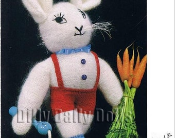 Emu 6237 Fluffy White Rabbit Knitting Pattern