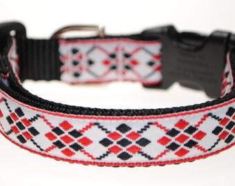 "Argyle - 3/4"" Adjustable Dog Collar"