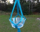 Turquoise Knot Easy Macramé Plant Hanger Hanging Planter