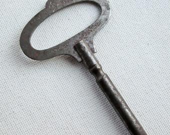 Popular Progress Steel Clock Key Number 5 Vintage 40's