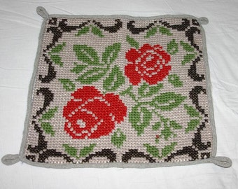 Vintage  Embroidery  - Cross Stitches - Finished piece - 1970s - 1980s
