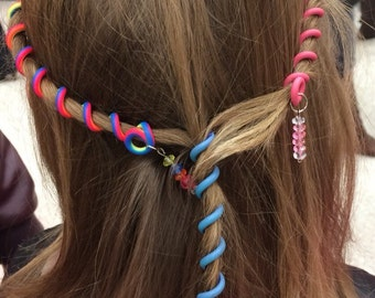 Overstock SALE flexible spiral hair wraps,  Every in stock color and size on SALE prices start at 1.00 each. Free shipping