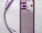 Handmade Laminated Durable Bookmark Flower design4 or gift set with button, magnet, mirror or keyring
