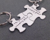 Couples Key Chains, You are my missing piece, Long Distance Relationship, LDR Gift, Couples Gift Idea, Valentines Gift, Valentines Gift