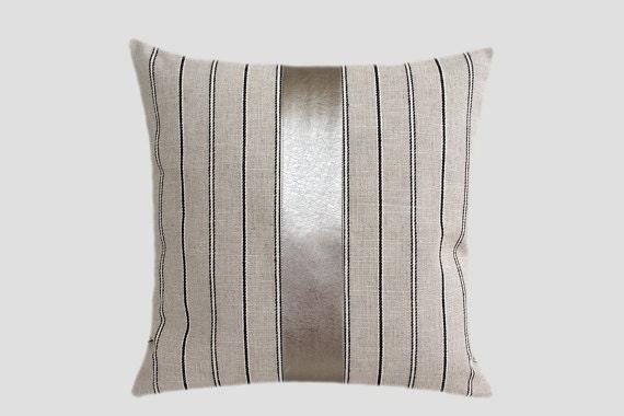 Light Grey Throw Pillow : Decorative Pillow case Light Grey Linen Throw pillow case
