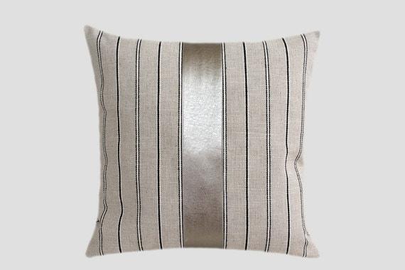 Grey Linen Throw Pillow : Decorative Pillow case Light Grey Linen Throw pillow case