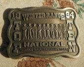Vintage Belt Buckle 1994 Winter Range Top Ten National Cowboy Shooting Competition