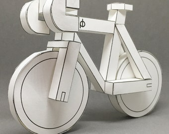 MEGA SALE! - paperbikes v2  - PRINTED fixed gear bike - papercraft bicycle