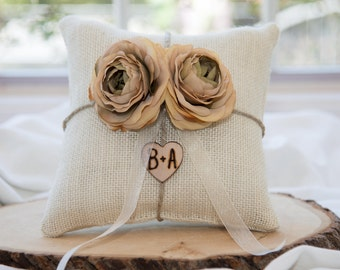Champagne ring bearer pillow You personalize it 10% discount promo code SPRING entire shop