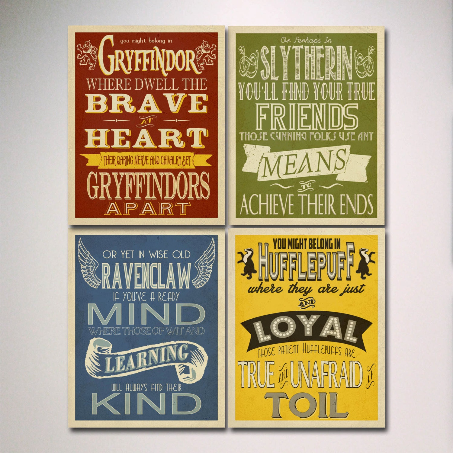 Which Hogwarts How Do You Belong To: Harry Potter House Posters Prints / Hogwarts Houses Prints